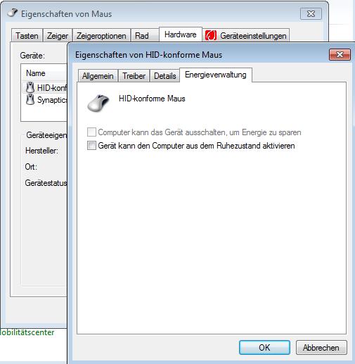 einstellung laptop zuklappen windows 7